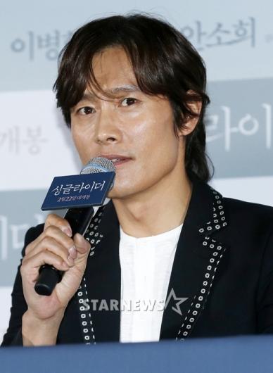 [★포토]이병헌, '싱글라이더 기대하시길'