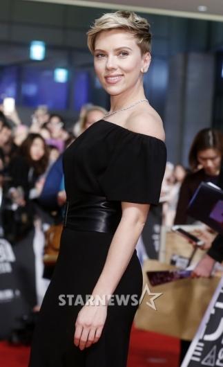 [★포토]한국 첫 방문 스칼렛 요한슨, '매력적인 자태'