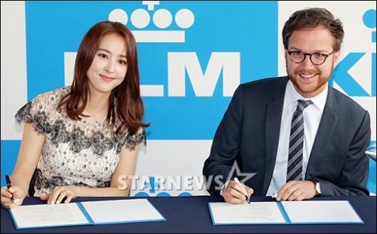 [★포토]한혜진, 'KLM 네덜란드 항공 홍보대사 위촉'