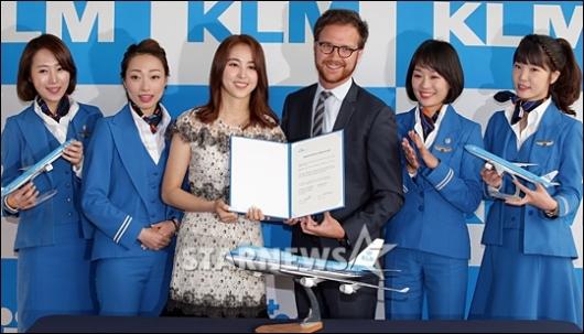 [★포토]한혜진, 'KLM 네덜란드 항공 홍보대사 됐어요'