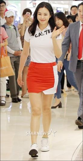 [★포토]이하늬, '골프웨어 패션도 완벽'