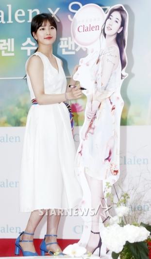 [★포토]수지, '등신대를 능가하는 실물 미모'