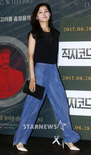 [★포토]김선화, '어마어마한 청 나팔바지'