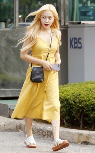 [★포토]예리, '머리부터 발끝까지 노랑노랑'