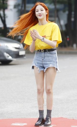 [★포토]박보람, '찰랑이는 오렌지 빛깔 머리'
