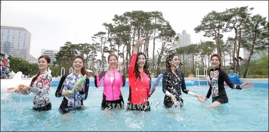 [★포토]'2017 미코' 도심 속 시원한 물놀이!