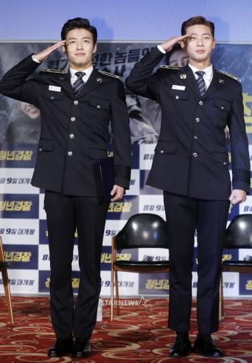 [★포토]강하늘-박서준, '보기만해도 듬직한 청년경찰'