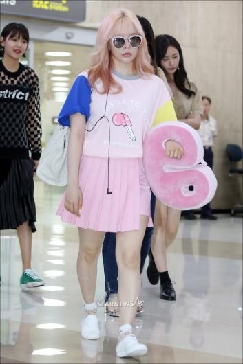 [★포토]써니 '핑크로 소녀감성'