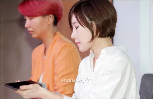 [★포토]녹취록 공개하며 눈 지긋이 감은 곽현화