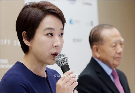 [★포토]'부산국제영화제' 기자회견 갖는 강수연-김동호
