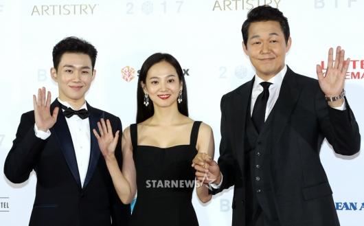 [★포토]오승훈-윤승아-박성웅, '반가워요 부산'