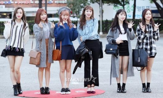 [★포토]에이프릴, '소녀들의 출근길 패션'