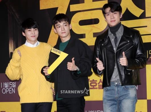 [★포토]시우민-첸-세훈, '엑소 의리 최고'