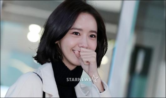 [★포토]윤아, '추워서 손이 꽁꽁'