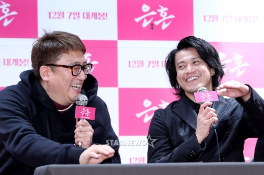 [★포토]오구리슌, 감독과 즐거운 대화