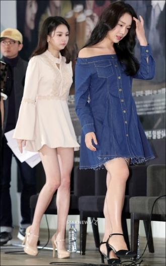 [★포토]정연주-재이, '추위 두렵지 않은 패션'