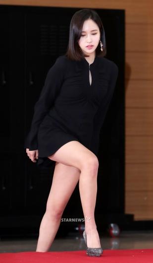 [★포토]미나, '아찔한 계단 오르기'