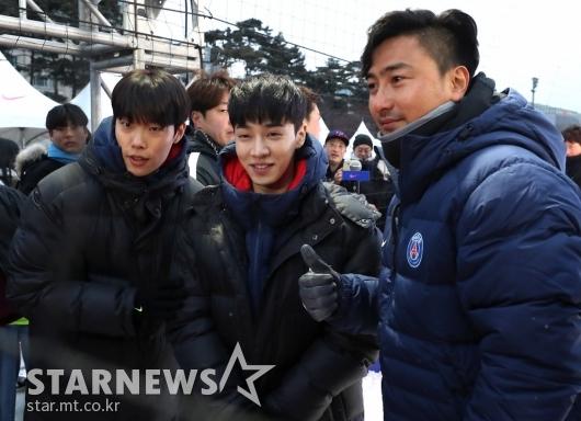 [★포토]안정환-류준열-이기광, '축구로 뭉쳤어요'