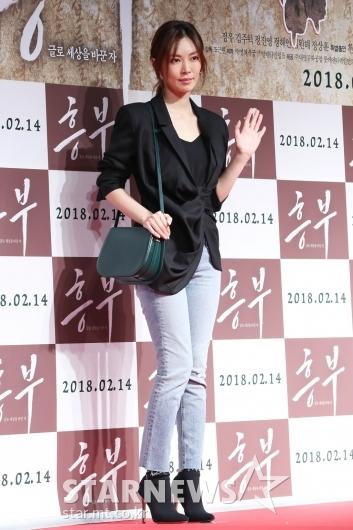 [★포토]김소연, '흥부 대박나세요'