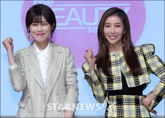 [★포토]장도연-한은정, '미녀들의 파이팅!'