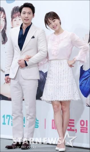 [★포토]이상우-한지혜, '선남선녀 커플'
