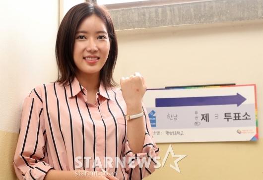 [★포토]임수향, '예쁜 투표 인증샷'
