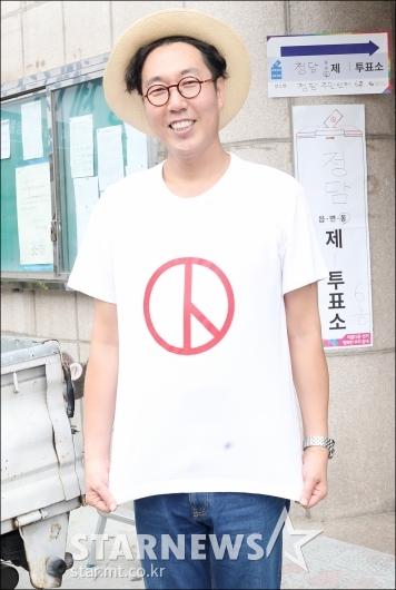 [★포토]김영철, '꼭 투표하세요!'