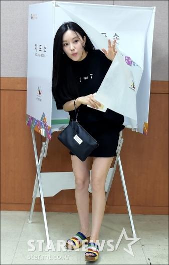 [★포토]투표 마친 효민