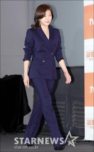 [★포토]하지원, '다리 길어 보이는 부츠컷 팬츠'