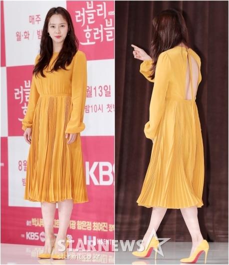 [★포토]송지효, '등 뚫린 반전 원피스'