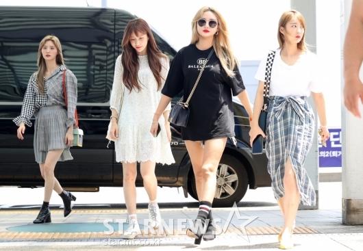 [★포토]EXID, '공항에 뜬 여신들'