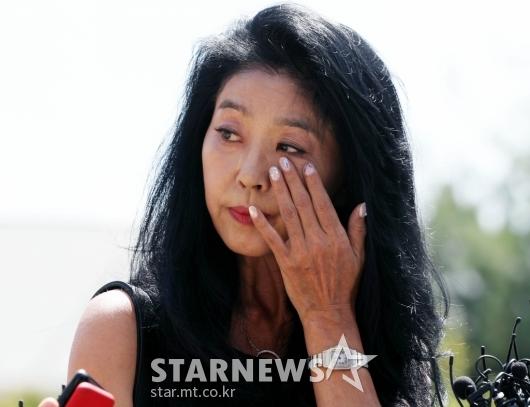[★포토]눈물 흘리는 김부선