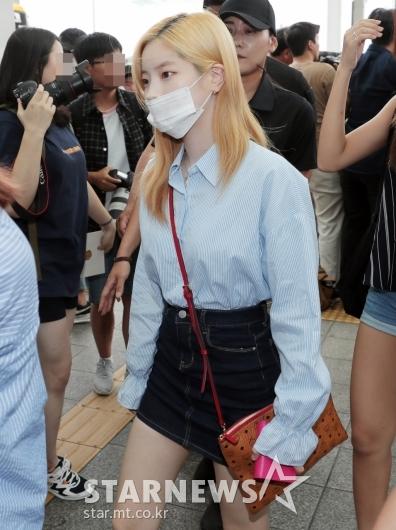 [★포토]다현, '마스크로 가릴 수 없는 미모'