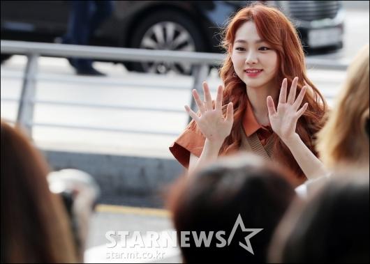 [★포토]미나, '팬들 안녕'