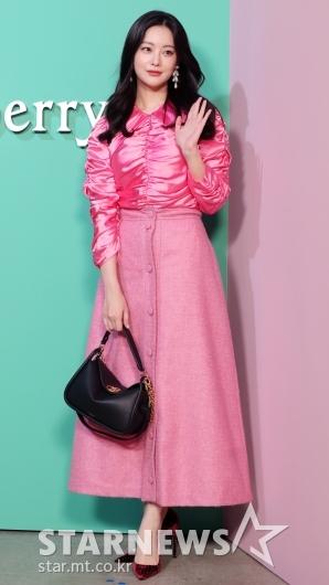 [★포토]오연서, '조금 난해한 핑크 치마'