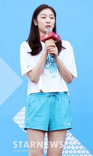[★포토]김연아, '달리기 좋은 날씨네요'