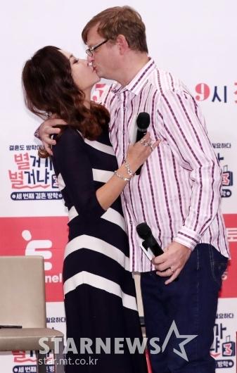 [★포토]임성민-마이클 엉거, '사랑의 키스'