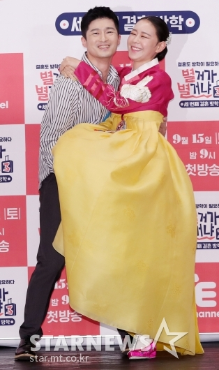 [★포토]정석순-김나니, '흥 넘치는 부부'
