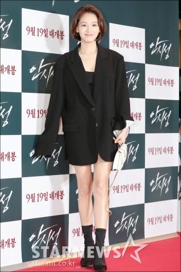 [★포토]김재경, '아빠 자켓 패션'