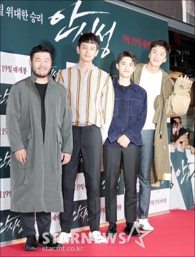 [★포토]김기방-임주완-도경수-이광수, '절친 군단'