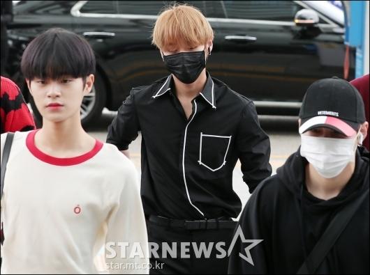 [★포토]박지훈, '마스크 쓰고 시크하게'