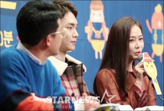 [★포토]홍수현, '프로그램 질문만 부탁드려요'