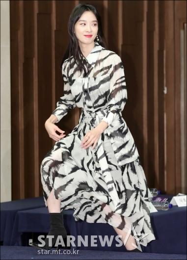 [★포토]이청아, '돋보이는 백호 무늬 패션'