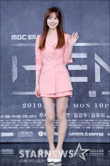 [★포토]진세연, '봄을 부르는 핑크 패션'