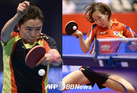 전지희-양하은 조가 헝가리 오픈 국제탁구 대회 여자 복식에서 우승을 차지했다./AFPBBNews=뉴스1