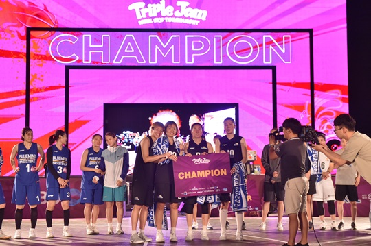 'WKBL 3X3 TOURNAMENT TRIPLE JAM'에서 우승을 차지한 구리 KDB생명. /사진=WKBL 제공