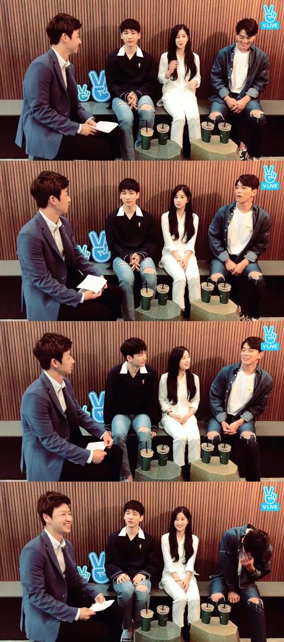 /사진=네이버 V 라이브 '[로맨스특별법] 김민규-혁-초롱의 첫만남!' 방송화면 캡처
