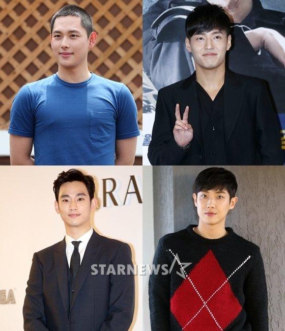 임시완, 강하늘, 이준, 김수현(사진 왼쪽 위부터 시계방향으로)/사진=스타뉴스