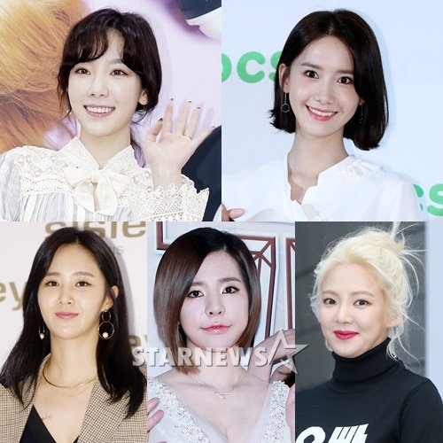 (왼쪽 위부터 시계방향) 소녀시대 멤버 태연, 윤아, 효연, 써니, 유리 /사진=스타뉴스