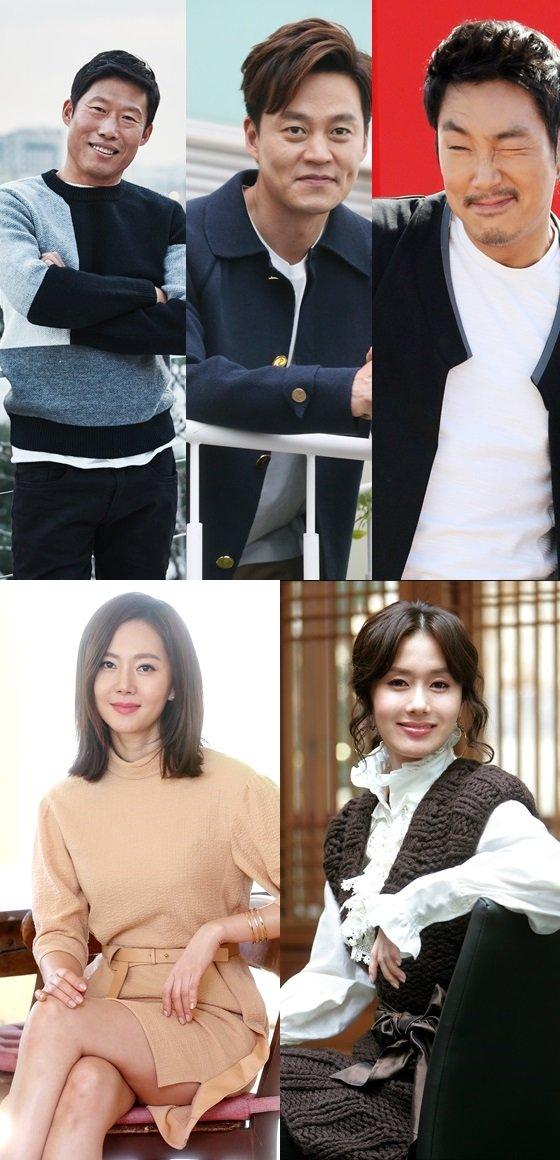 유해진,이서진,조진웅, 염정아,김지수/사진=머니투데이 스타뉴스
